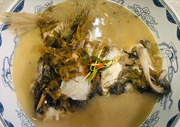 鲈鱼笋干菜烧
